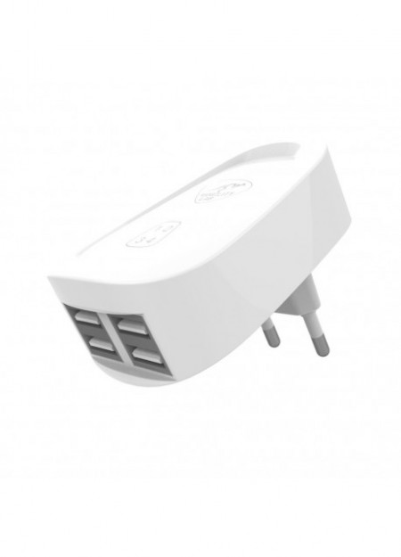 CHARGEUR MURAL 4 PORTS USB – 4A