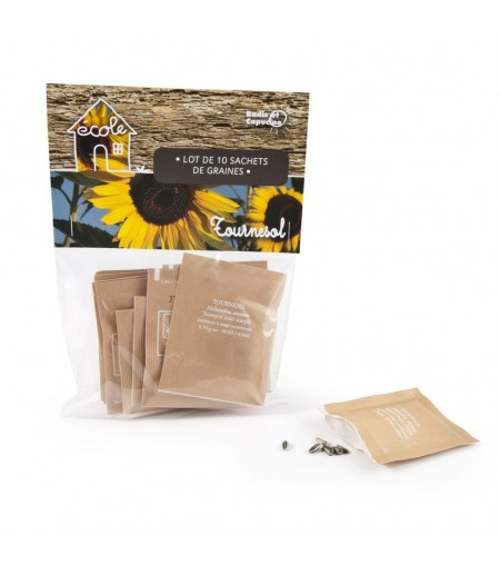LOT DE 10 SACHETS DE GRAINES - TOURNESOL NAIN