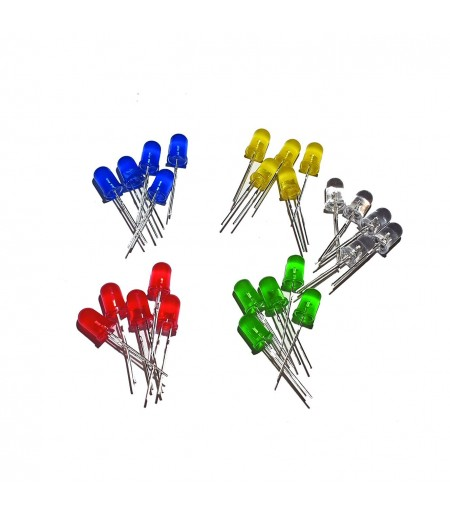 LOT DE 25 LED NUES DE 5 COULEURS DIFFERENTES