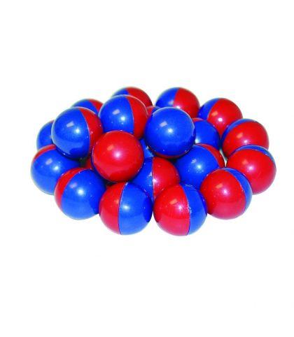 Billes magnétiques bleues et rouges