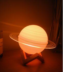 LAMPE LED 16 COULEURS SATURNE