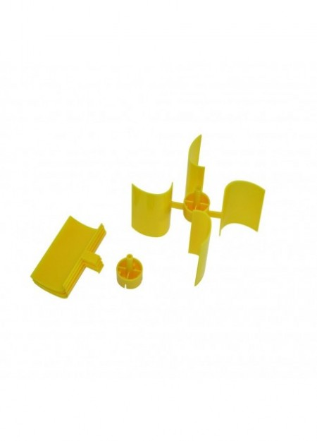 HELICE VERTICALE JAUNE Ø100MM X H 60MM POUR AXE Ø2MM
